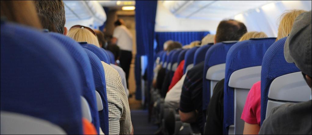 Aisle at plane