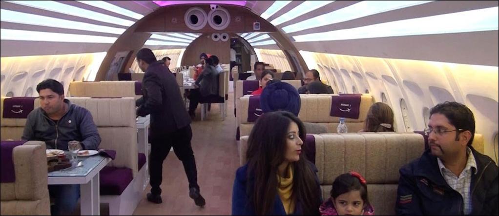 Airplane Restaurant inside