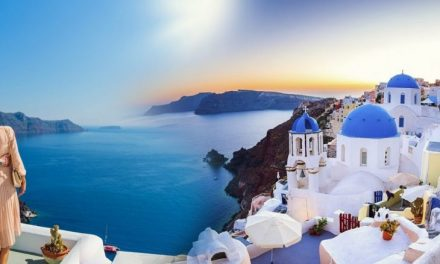 SANTORINI: A COUPLET OF TWILIGHT SKY